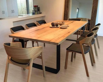 KING Dining Table - loop legs with rounded corners