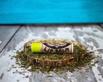 Peppermint Lip Balm - Natural Lip Balm - All Natural Lip Balm - Lip Gloss  - Organic Lip Balm - Lip Moisturizer - Lip Balm for Men