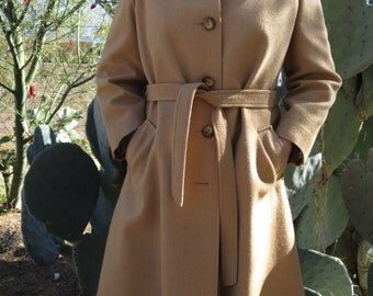 Vintage 1950's - 1960's Roma Gino Rossi Camel Hair Coat from Cele Peterson of Tucson Size L/XL