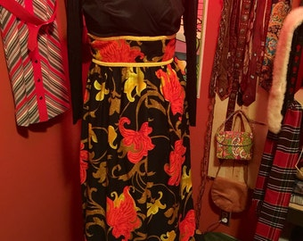 1960's Maxi Dress by Julie Miller of California