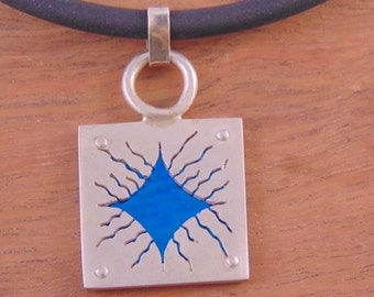 Blue Square Pendant