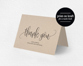 Wedding Thank You Cards Etsy HK