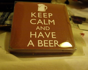 Set of 4 Keep Calm and Have a Beer Coasters