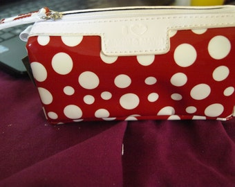 Small Red Dotty Make Up Bag