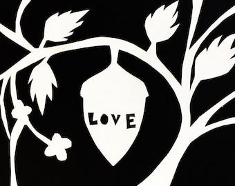 "8""X11"" Custom Art, Custom cut paper artwork, custom stencil design, black and white modern art."