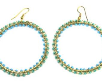 Turquoise Circle earrings K322