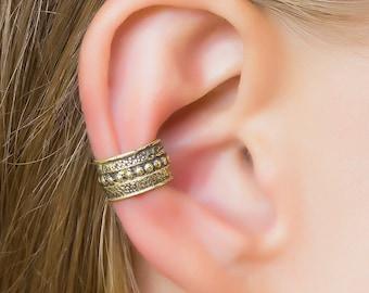 Tribal ear cuff. cartilage ear cuff. tribal earrings. bohemian earrings. ear cuffs earrings. ear cuff non pierced. brass ear cuff. boho chic