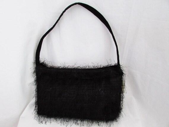 Shoulder Bag, Feathery Black