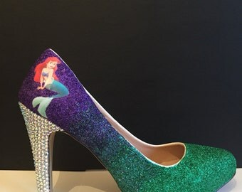 The Little Mermaid inspired high heels