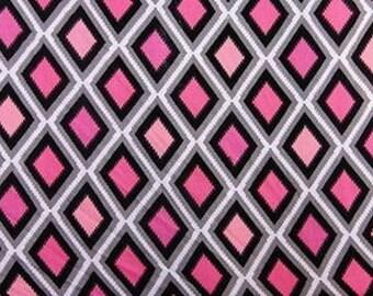 100% Rayon with Diamond Pattern Fabric by the yard