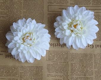 10pcs silk daisy flower head 10cm (4in)various colors artificial flower head for headband/garden craft DIY