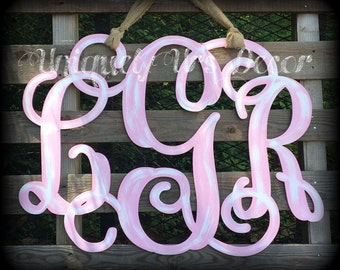 Triple Monogram Initials 24""