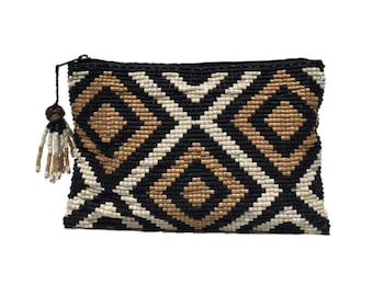 Free US Shipping - Dolores Ceramic Beaded Clutch