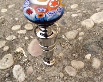 Murrina stopper: stopper handmade in Murano glass and murrine millefiori