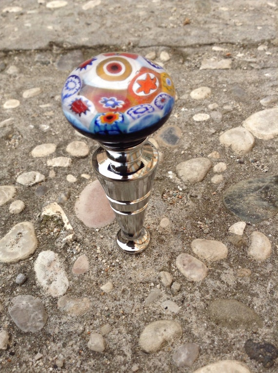 Murrina stopper: stopper handmade in Murano glass and murrine millefiori