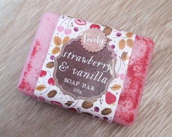 Strawberry & Vanilla Soap Bar