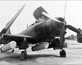 24x36 Poster . Navy Douglas Ad-2 Skyraider With Mk 25 Mod 2 Mines 1949