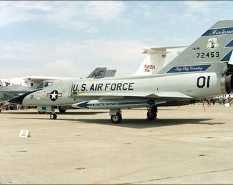 24x36 Poster . F-106A Delta Dart Montana Air National Guard 1985