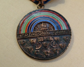 1961 Heptagonal Games Medal One Mile