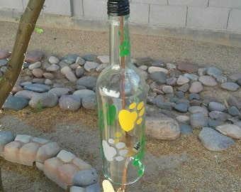 Dog lover gift,dog sympathy gift,loss of a dog.This unique dog paw wine bottle wind chime is a beautiful way to say I'am sorry for your loss