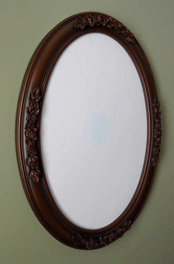 bronze bathroom mirrors oval mirror with rubbed bronze color frame by wallaccents 12179