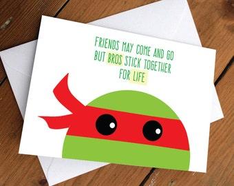 Red ninja turtle card