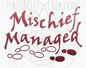 Decal - Harry Potter - Mischief Managed