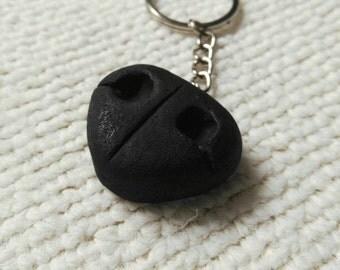 Truffle dog's nose keychain