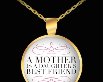 Mom Pendant Necklace, Mother's Day Gift, Gift for Mom, Gift for Daughter, Unique Mother Jewelry, Fun Novelty Necklace