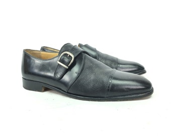 Size 11.5 M - Vintage Men's Vito Rufolo Italian Ankle Boots Single Strap