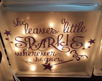 She Leaves a Little Sparkle Night Light