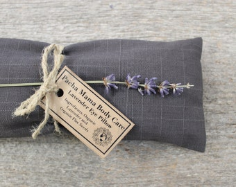 Lavender Eye Pillow • Large • Dark Grey • Relaxation • Yoga •  Eye Cover • Meditation • Organic Body Care