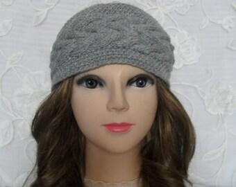 Headband. Knit Headband. Knitted Headband. Gray color. Crochet Headband. Hair Accessories. Head Wrap. Ear Warmer. Knit Turban. Knit braided.