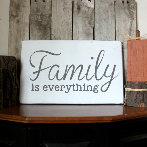 family wood sign family is everything wood by palateforpallets. Black Bedroom Furniture Sets. Home Design Ideas