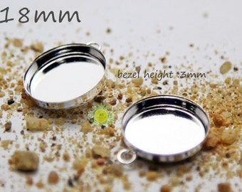 Deep bezel etsy 18mm bezel cup pendant tray blanks round bezel setting 18mm bezel blanks round mozeypictures Image collections