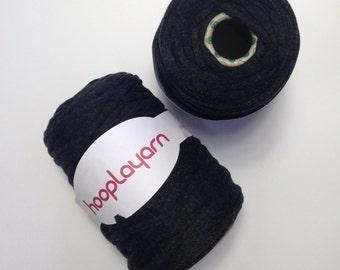 Hoopla jersey recycled Charcoal Grey t-shirt yarn