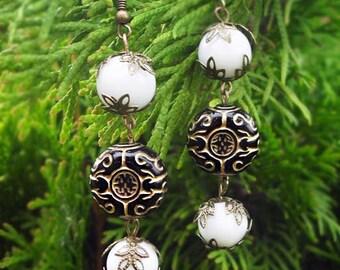 Ethnic Earrings, earrings long, earrings vintage, earrings chandeliers, earrings in oriental style