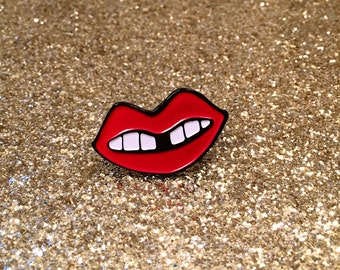 Red Lip Enamel Pin