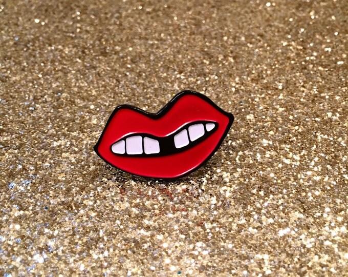 Red Lip Enamel Pin