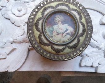 Collectable 'Marquise' Vintage French Tin from France