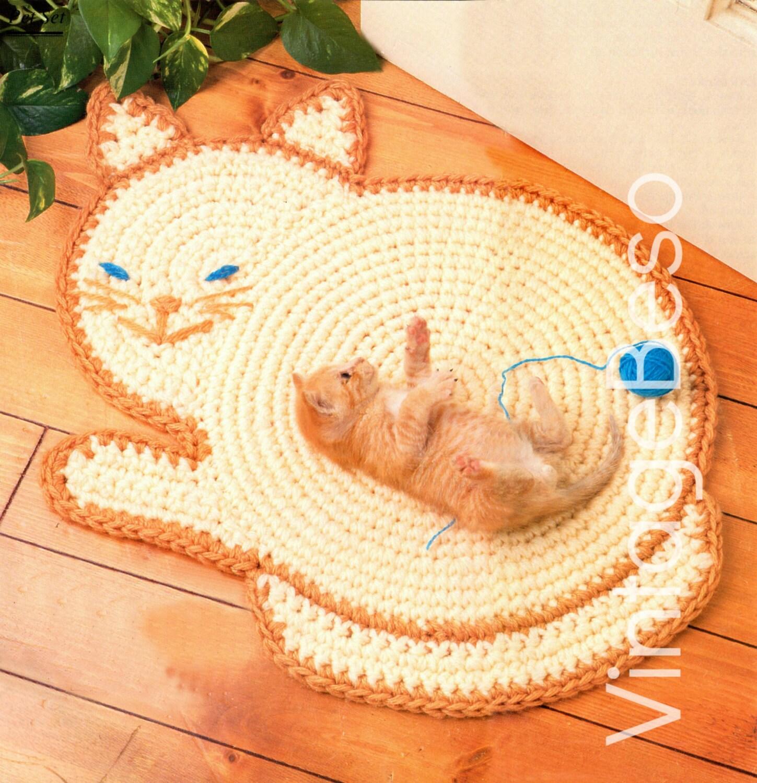 Kitty Cat Mat Crochet