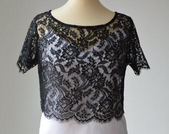 Top, Black Lace blouse