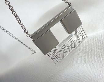 SALE Jewelry Laser cut jewelry Statement Necklace - free shipping - Gift for her / Birthday gift