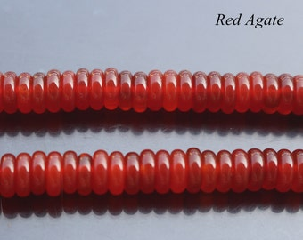 3x8mm Red Agate Rondelle Beads,Natural Red Agate Beads,Spacer Beads,15 inch per Strand