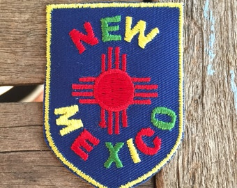 New Mexico Vintage Souvenir Travel Patch from Voyager