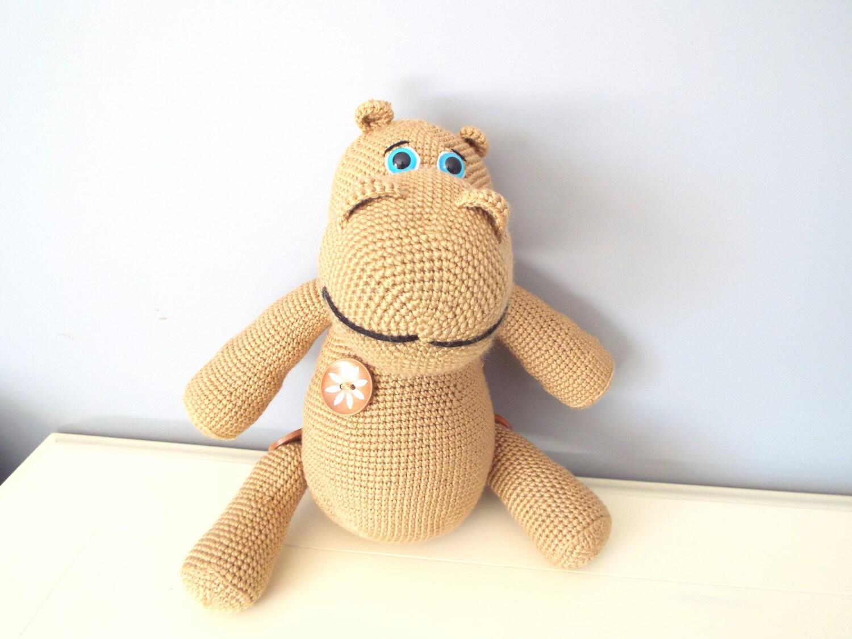 Crochet Toys For Boys : Crochet hippo amigurumi hippopotamus kids home decor
