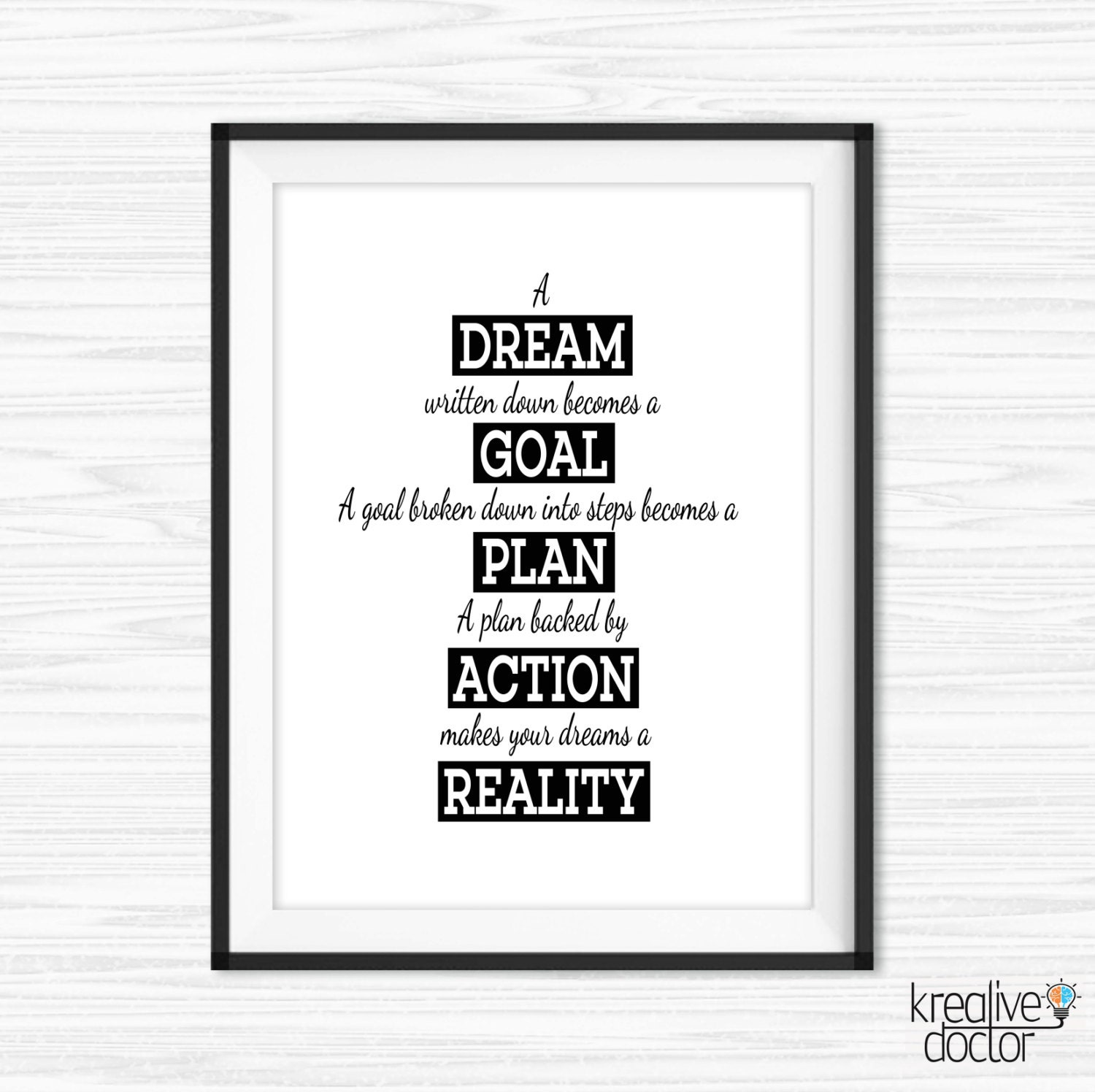 Inspirational Quotes Office Work: Office Wall Art Work Hard Quotes Motivational Wall Decor