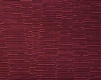 SCALAMANDRE OTTOMAN Textured JACQUARD Fabric 10 Yards Crimson