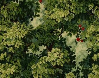 SCALAMANDRE MARLY Cut & Uncut Velvet Forest Linen Fabric 10 Yards Blue Green