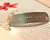 Curse Words Sterling Silver Bracelet - F*ck This Sh*t Bracelet  - Sympathy Gift - Gift Idea Under 50 - Divorce Bracelet